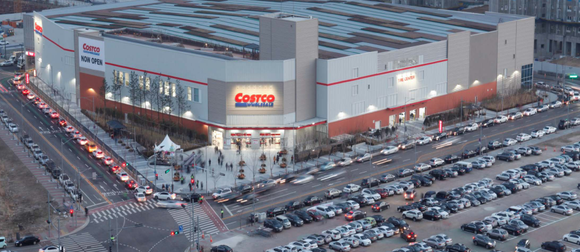 An aerial view of a Costco location.