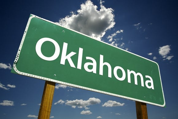 Oklahoma road sign
