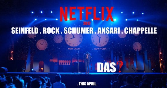 A promotional image of Vir Das' Netflix original.
