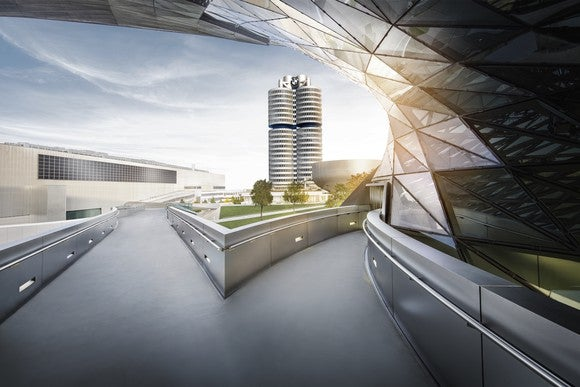 BMW's iconic headquarters tower.