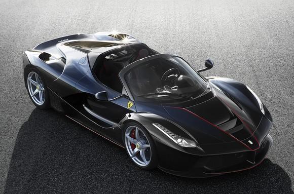 A black LaFerrari Aperta sports car.