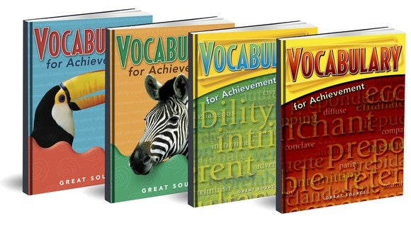 Vocabulary books from HMH.