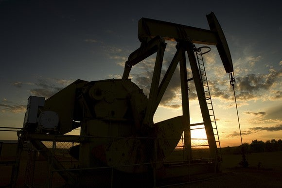 Pumpjack at sunset
