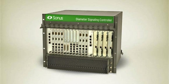 The DSC 8000, a black box with metal front and the green Sonus logo at the top.
