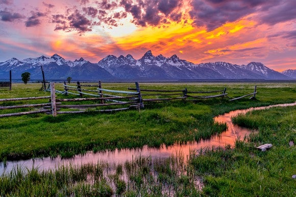 Wyoming at sunset.