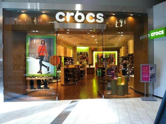 A Crocs retail store.