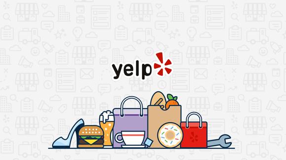 Yelp logo.