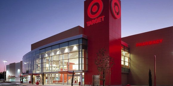 The outside view of a new Target store.