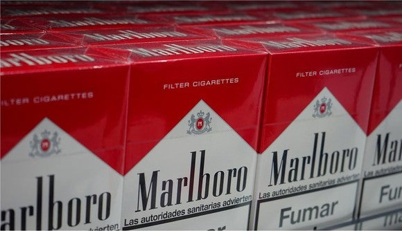 PMI's flagship Marlboro cigarettes.
