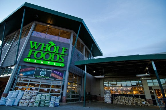 The front of a Whole Foods store in Lakewood, Colorado.