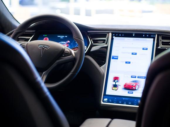 Interior of a Tesla Model S