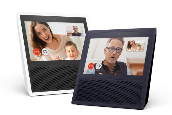 Two of Amazon's Echo Show.