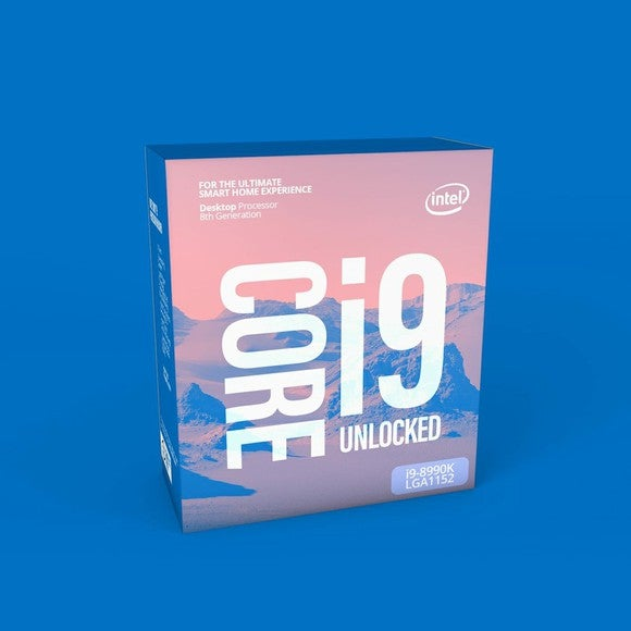"Intel box reading ""Core i9 Unlocked."""