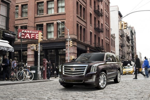 The 2017 Cadillac Escalade Platinum.