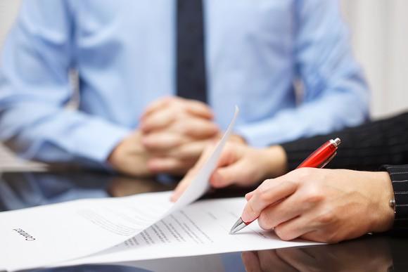 Signing bank paperwork