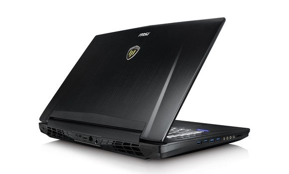 A gaming notebook with an NVIDIA GeForce GPU inside of it.