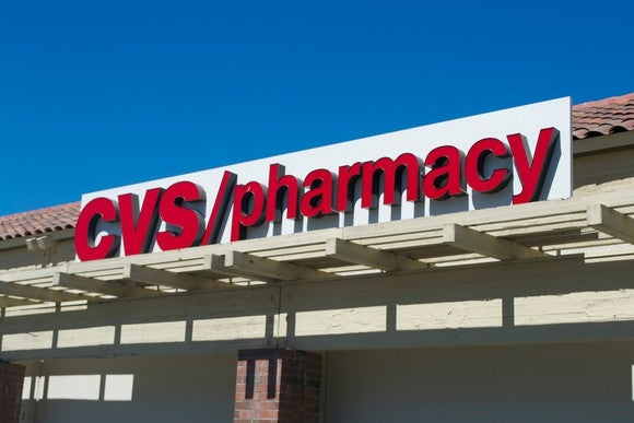 The sign outside a CVS pharmacy store.