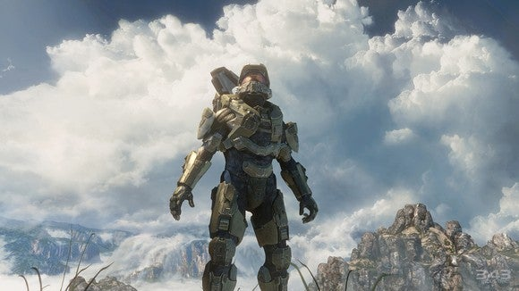 The character Master Chief from Microsoft's Halo series.