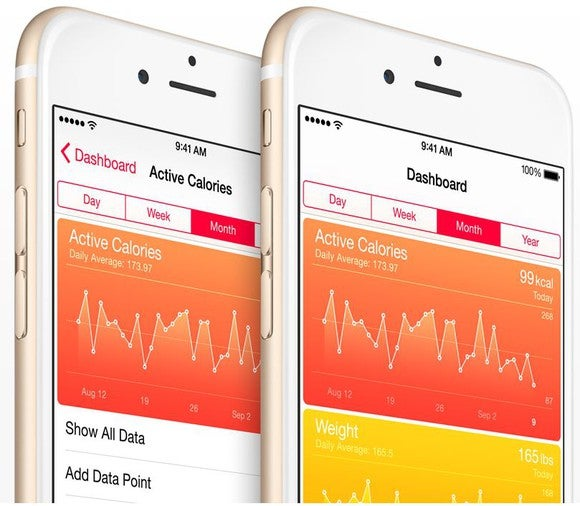 The Apple Health app on a smartphone.