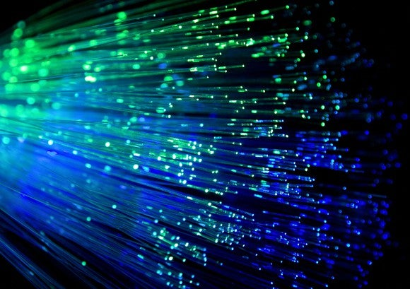Fiber optic cable closeup.