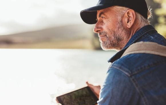 Older man outdoors