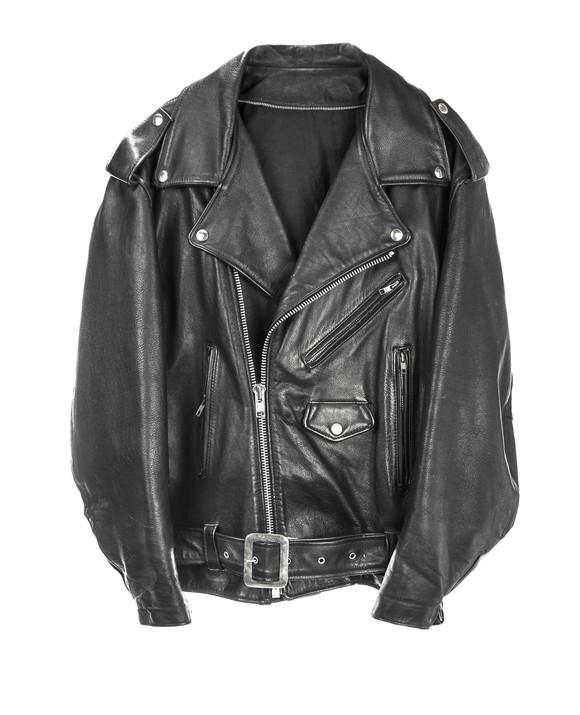 Leather motorcycle jacket