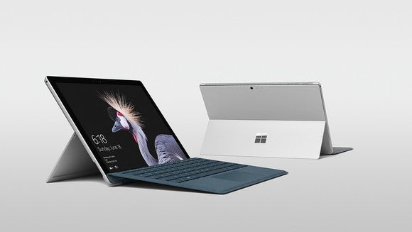 2 angles showing the new Surface Pro