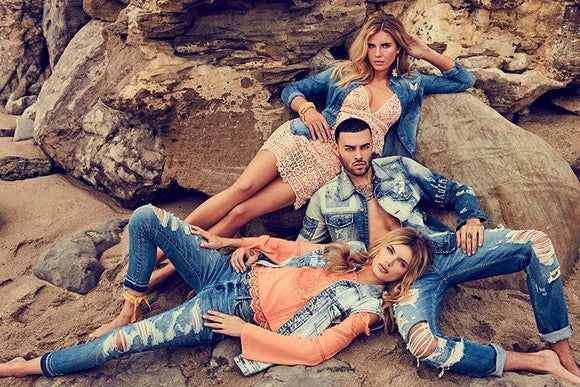 Models wearing Guess? clothing