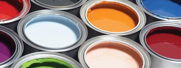 Open paint cans.