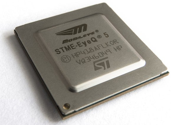 The Moblieye EyeQ5 chip.