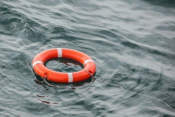 A life saver in the water.