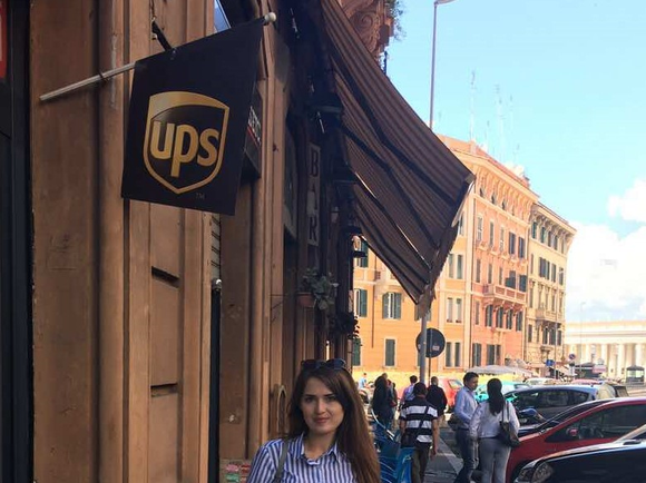 A UPS flag in Rome