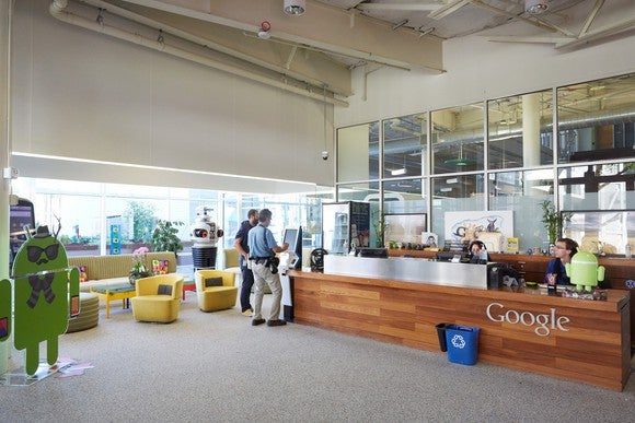 One of Google's lobbies.