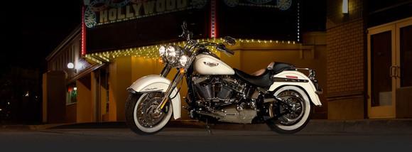 White Harley-Davidson Softail Deluxe