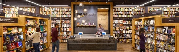 Amazon's brick-and-mortar bookstore.
