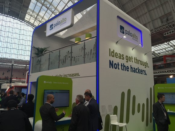 Palo Alto Networks conference booth