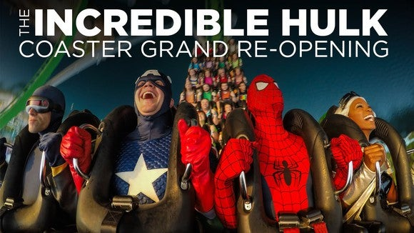 Promo for the Hulk coaster's reopening in 2016