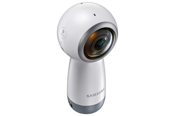 Samsung's Gear 360 handheld 360 camera.