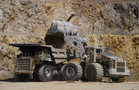 Heavy equipment at the Bald Mountain mine.