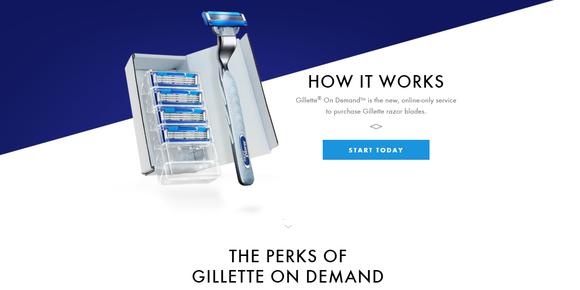 Gillette shave club website.