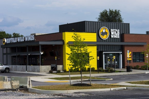 The exterior of a Buffalo Wild Wings store.