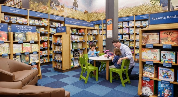 The children's book area of an AmazonBook store