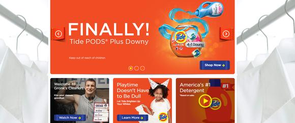 Tide detergent brand advertisement.