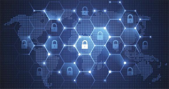 "Digital padlocks ""protecting"" the world from hackers."