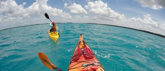 A GoPro shot from a kayak.