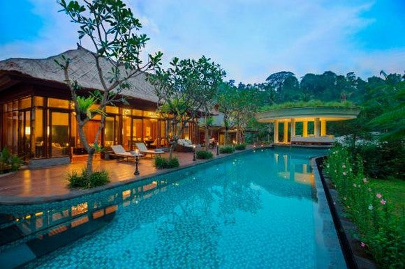 A pool at an Indonesian hotel