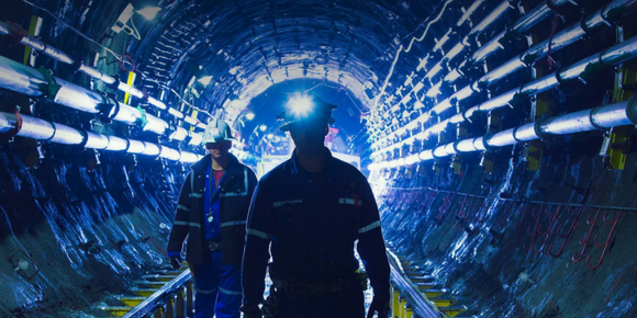 Cameco employees in a mine.