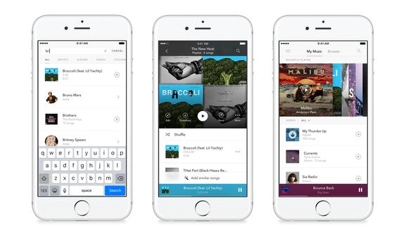 Screenshots of Pandora Premium on a smartphone.