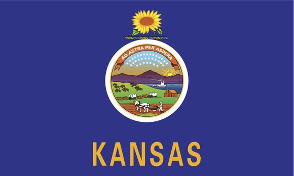 Kansas state flag.