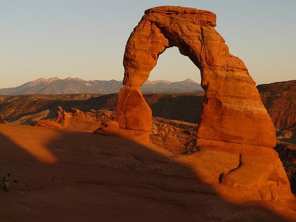 Rock arches in Utah.